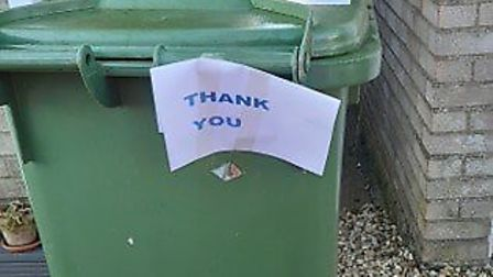 One note of appreciation from a Fenland resident. Picture: FENLAND DISTRICT COUNCIL