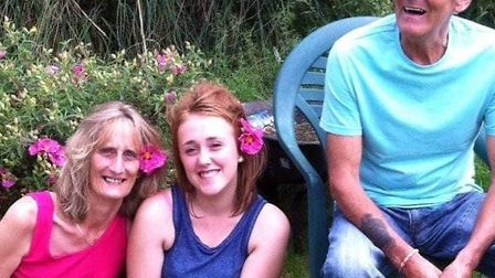 Gerry with wife Julie (far left) and granddaughter Kelsey. Picture: FAMILY