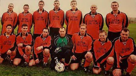 Gerry played and managed during his time with Sutton Reserves. Picture: FAMILY