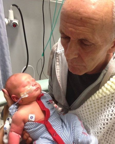 Gerry holding grandson Archie. Picture: FAMILY