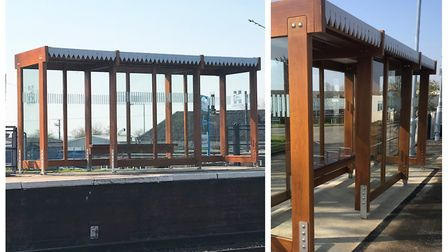 New train shelters at Manea and Whittlesea stations have been installed. Pictures: FENLAND DISTRICT