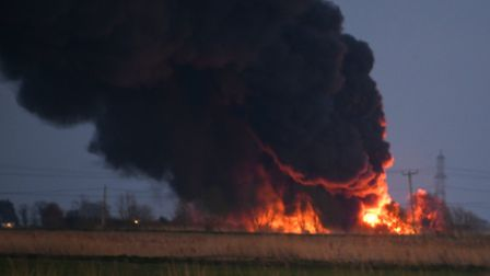 Dramatic photos from the fire that broke out tonight in Littleport, Picture IAN CARTER