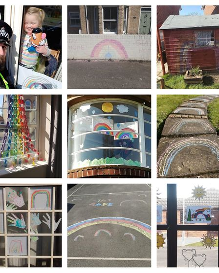 Residents across Cambridgeshire have been creating rainbows during the coronavirus pandemic. Picture