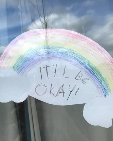 A rainbow with the words 'It'll be okay'. Picture: FACEBOOK/FOLLOW THE RAINBOWS