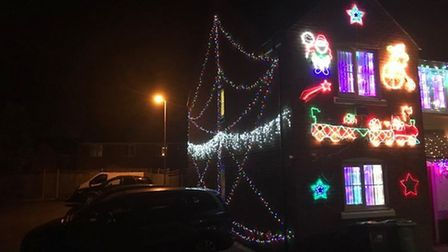 Michelle Collen turned on her home Christmas lights in a bid to cheer people up amid the ongoing cor