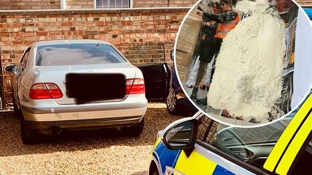 Police were left with a surprise after seizing this Mercedes in the Fens. Picture: Supplied/FenCops