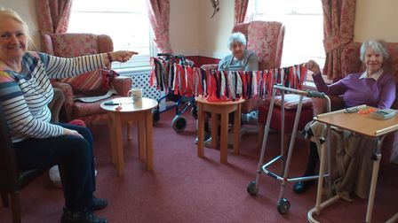 Residents at The Gables Care Home in Chatteris. Picture: SUPPLIED