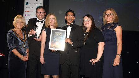 2019 winners of the Business Growth prize at the East Cambridgeshire Ely Standard Business Awards As