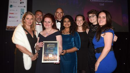 Winners of last year's Small Medium Enterprise of the Year prize at the East Cambridgeshire Ely Stan