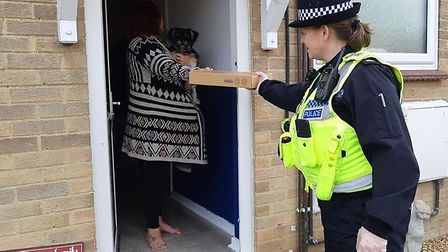 Police in East Cambridgeshire have been delivering laptops to schoolchildren to help them continue l