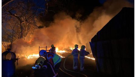 Dramatic photos from the fire that broke out tonight in Littleport, PictureCAMBS FIRE