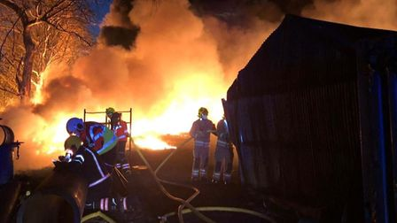 Dramatic photos from the fire that broke out tonight in Littleport, Picture CAMBS FIRE AND RESCUE