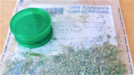 Drugs seized from a closed Fenland park after a man was found with them on April 5. Picture: Policin