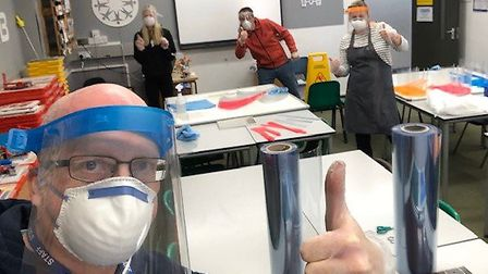 Staff anf students at Ely College have been making and donating personal protective equipment to hel