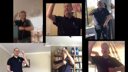 Six-man a cappella group Isle 'Ave A Shanty recorded a charity song from their homes and it's now av