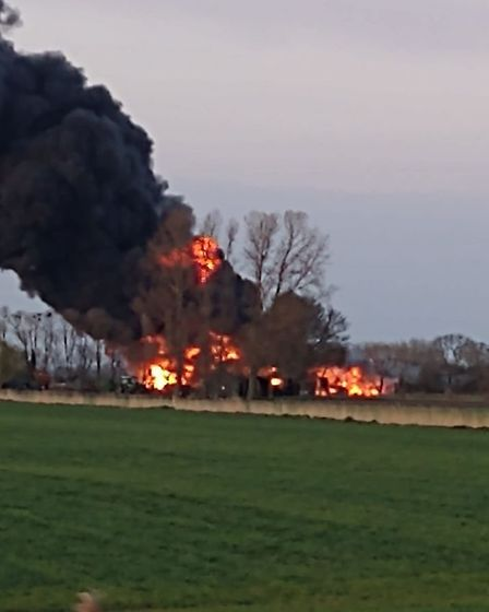 Dramatic photos from tongiht's fire in Littleport, PictureL Debbie Butcher