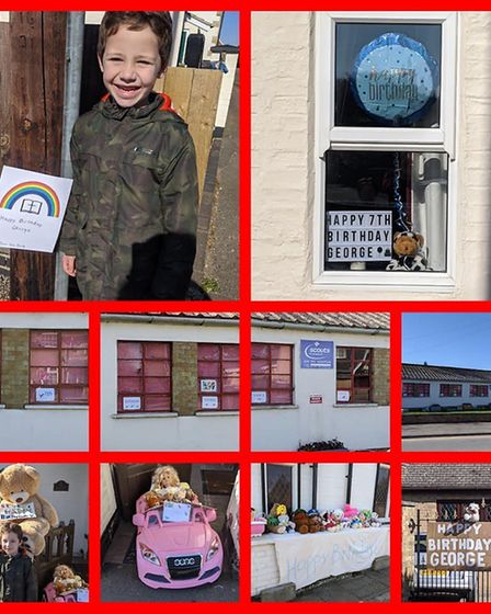 Rainbows, teddy bears and banners in windows meant that George Miles, of Doddington, had the 'best b