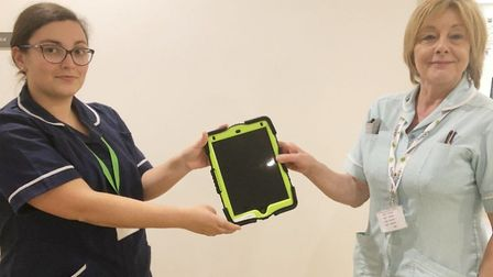 Wilburton Football Club have provided the Arthur Rank Hospice with a new iPad to help patients stay