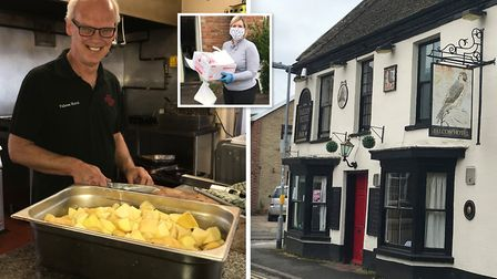 Colin Wilson of the Falcon Hotel in Whittlesey has cooked up 165 meals for the most vulnerable durin