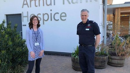Crew commander Roger Pake, who is based at Cottenham fire station, raised more than £2,000 to cover