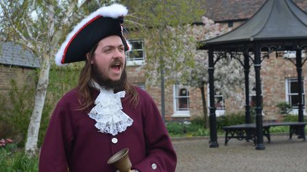 Lawrence Weetman, Town Crier of Chatteris, will record a Cry for Peace for the 75th anniversary of V