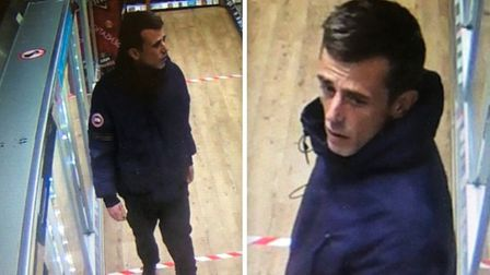 Police would like to speak to this man following the incident at the Co-operative shop in Loxley, Pe