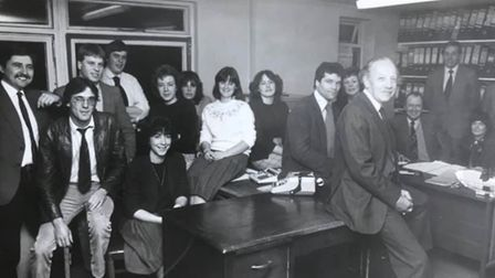 Tony Cox: 'This is a picture of the Cawood Concrete (March) Office Staff taken in 1982/83 just befor