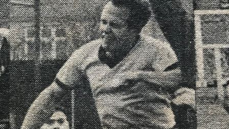 March Town legend Archie Tinkler both played and managed the Hares during his time at the club. Here