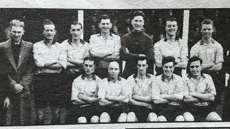 Archie Tinkler played and managed March Town FC during his time at the club. Here is the 1953-54 sid