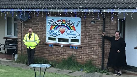 Three Wilburton neighbours Malcolm Coulson, Jade Huggins and Sue Turpin have created a fitting tribu