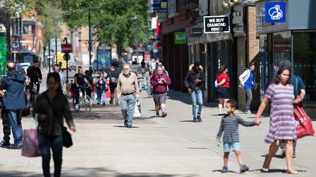 Peterborough City Centre on Friday April 24. Where going out has become the new staying in. Picture;