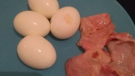 A simple breakfast of bacon and eggs. What could possibly go wrong with that? Quite a lot as it turn