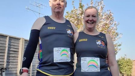 Members from Three Counties Running Club took part in a marathon relay where each team represented t