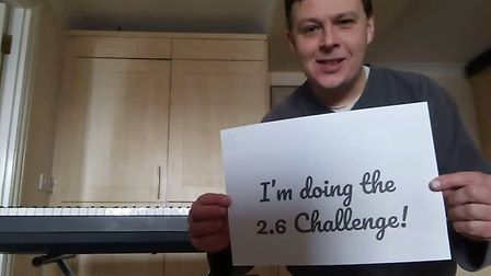 Edmund Aldhouse played 26 scales in 26 minutes on his electric keyboard as part of the 2.6 challenge