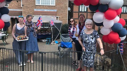 Whittlesey celebrates the 75th Anniversary of VE Day. Whittlesey Cam was with the Mayor who was out