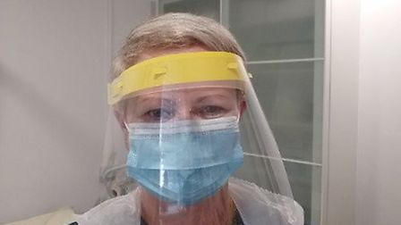 Freshwell Health Centre in Finchingfield received PPE From Saffron Walden County High School's techn