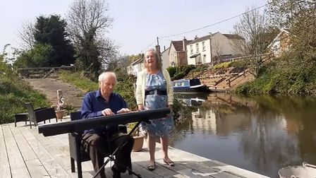 Tony and Patsy Gosling performing from their March home. Picture: Facebook/TonyAndPatsy Gosling