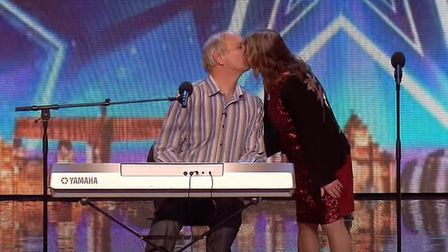 Tony and Patsy kissing on Britain's Got Talent in 2016. Picture: ITV/YouTube