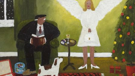 Gary Bunt is now running a video tour of his 'Bert, his dog, our God' exhibition. Here is 'The Angel