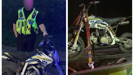 Officers seized this dirt bike in Ely, one of several reports of illegal biking in the area. Picture