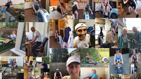 Isle of Ely Rowing Club organised an indoor rowing marathon during the coronavirus pandemic for the