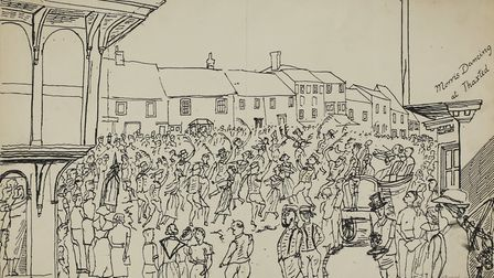 Morris Dancing in Thaxted by Edward Bawden