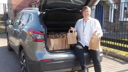 Staff at Manea Primary School have been delivering lunches to students and their families as part of