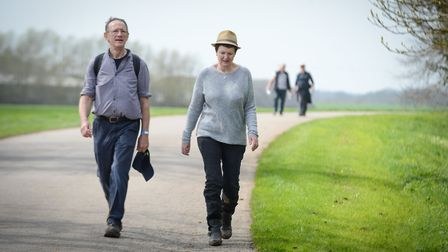 A rural ramble organised for the charity last year. Photo: Helen Rollason Cancer Charity.