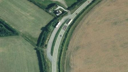 A motorcyclist was hospitalised after a single-vehicle collision on the A10 Ely bypass. Picture: GOO