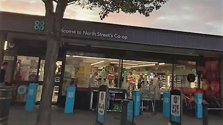 The Co-op in North Street, Burwell, where Benjamin Seaton claimed to have coronavirus before assault