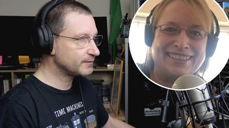 David Johnson (left) and Amanda Carlin (right) set up the Fenland Chat Hour podcast in a bid to help