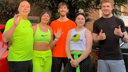 Three Counties Running Club members are keeping motivated by taking part in weekly challenges. Pictu