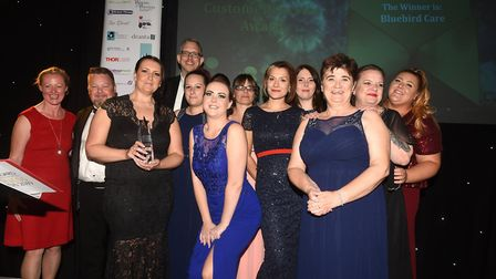2019 winner of the Customer Service prize at the East Cambridgeshire Ely Standard Business Awards Bl
