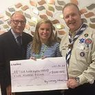 One donation was made to by Arthur Rank Hospice and here presented to Bethany Brown, community fundr